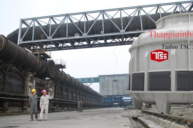 Công trình lắp đặt tháp giải nhiệt cho nhà máy Thép Hòa Phát