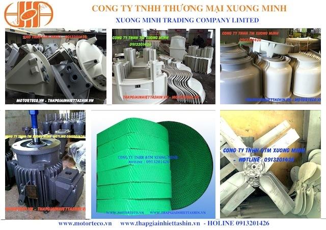 Xương Minh nhận bảo dưỡng, bảo trì, thay thế linh kiện, phụ kiện tháp giải nhiệt,