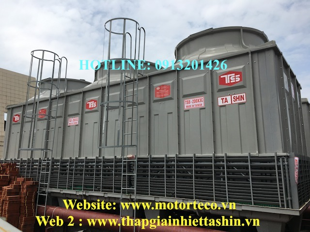 Lắp tháp giải nhiệt tashin 200rt tại Hưng yên